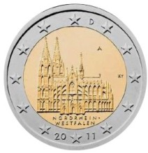 Germany 2 euro 2011 F KÖLN ( UNC )