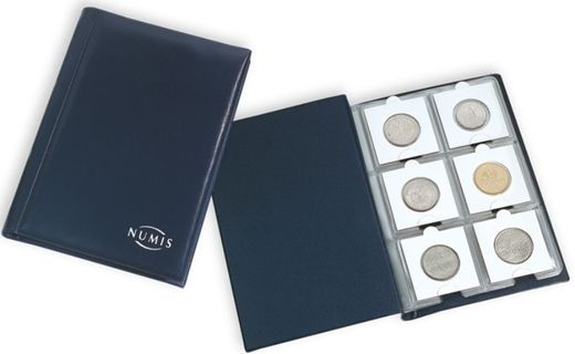 LEUCHTTURM NUMIS Pocket album to 50 X 50 mm coinholders