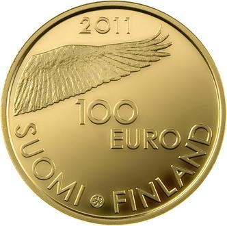 Finland 100 Euro 2011 Bank of Finland 200 years Gold 5.65 gr, 917/1000 ( PROOF )