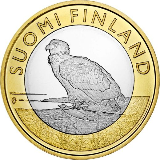 Finland 5 euro 2014 Animals of the Provinces Aland Island - White-tailed eagle  ( UNC )