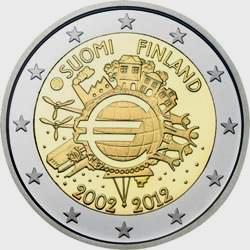 Finland 2 euro 2012 cc 10 years Euro ( UNC )