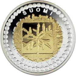Finland 50 euro2003 KM#113 ( PROOF 00 ) AU/AG 12,8gr Finish art and design Mintage only 20000  Pcs