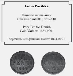 PARIKKA Price list for Finnish coins variants 1864-2001