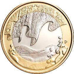 5 Euro 2012 Nothern nature Winter( UNC )