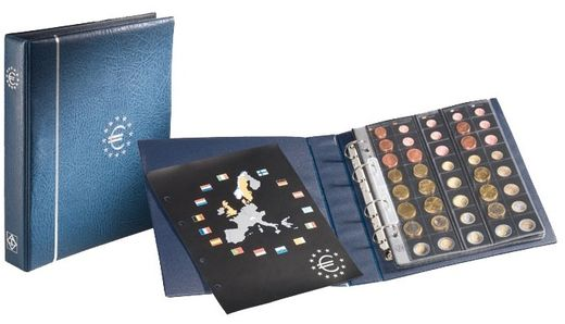 OPTIMA coin sheets for storing 25 complete coin sets. BLUE