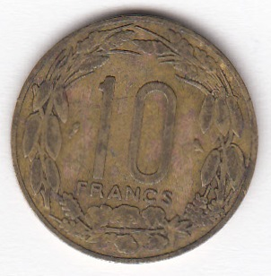 Equatorial African states - Cameroon 10 francs 1962 KM-2 ( VF )