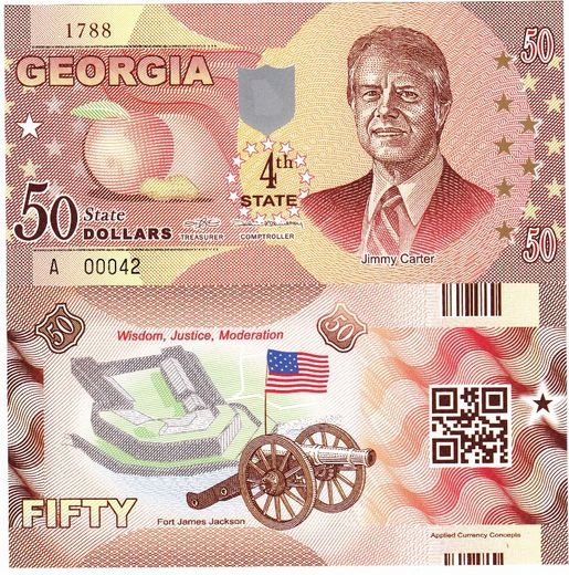 Georgia 50 state dollars ( UNC ) Jimmy Carter