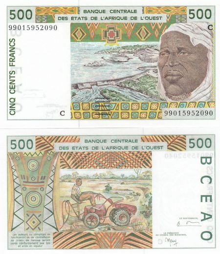 WEST AFRICAN STATES - Burkina Faso 500 Francs 1999 P-310C ( UNC )