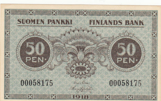 50 Penniä 1918 00058175 ( 01-0 ) COL - HIS