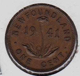 Canada New Foundland 1 cent 1941 KM-18 ( VF )
