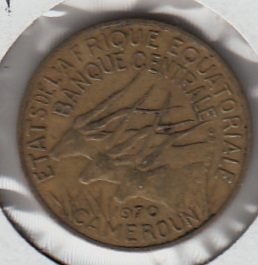 Equatorial African states - Cameroon 5 francs 1970 KM-1a ( VF )