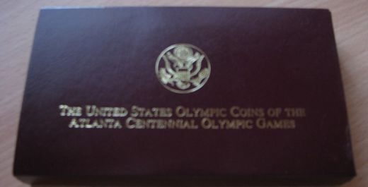 USA 5 Dollars 1996 ( PROOF ) Olympiad Flag KM-274  Au 8,36g 900/1000 Original box