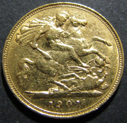 Great-Britain 1/2 Sovereign 1901 KM-784 ( XF ) Au 3,99 917/1000