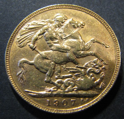 Great-Britain 1 Sovereign 1907 KM-805 ( XF ) Au7,98g 917/1000