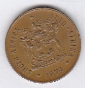 South-Africa 2 cents 1974 KM-83 ( XF )