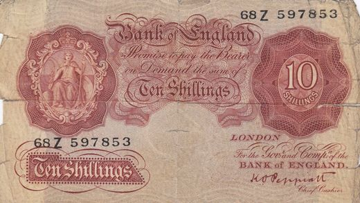 Great Britain / England 10 shillings ND1948 P-368b ( P )