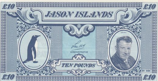Jason Islands 10 Pounds 1979 ( UNC )