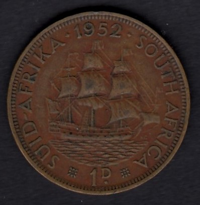 South-Africa 1 Penny 1942 KM-34.2 ( 1+ )