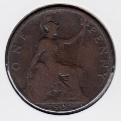 Great-Britain 1 penny 1902 KM-794 ( G )