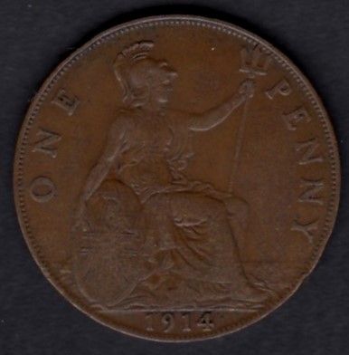 Great-Britain 1 penny 1914 KM-810 ( VF )