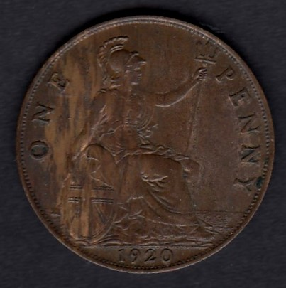 Great-Britain 1 penny 1920 KM-810 ( XF )