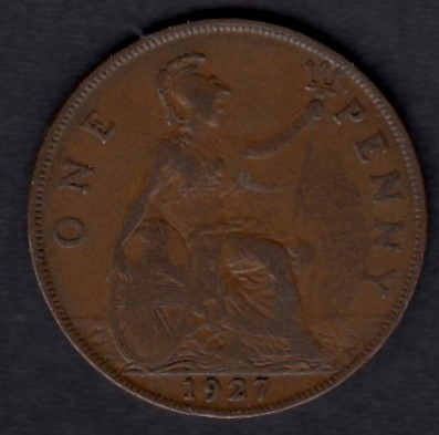 Great-Britain 1 penny 1927 KM-826 ( VF )