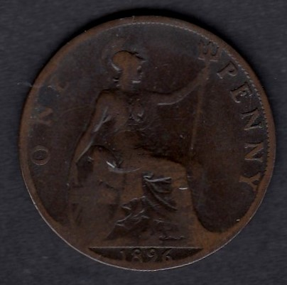Great-Britain 1 penny 1896 KM-790 ( G )