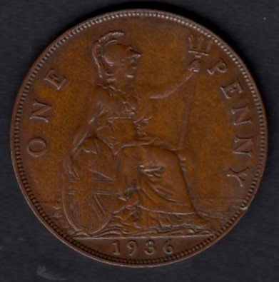 Great-Britain 1 penny 1936 KM-838 ( XF )