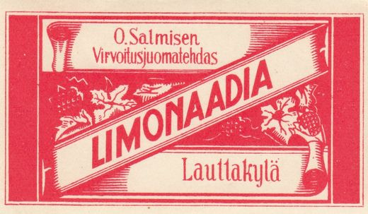 Label  O.Salminen Lauttakylä Limonaadia
