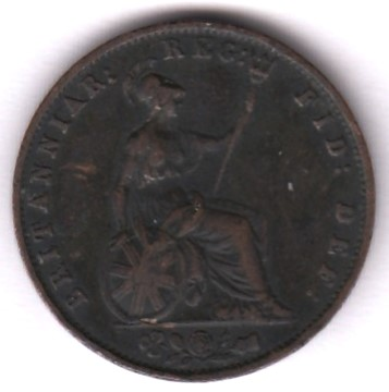 Great-Britain 1 farthing 1855 KM-725 ( VF )