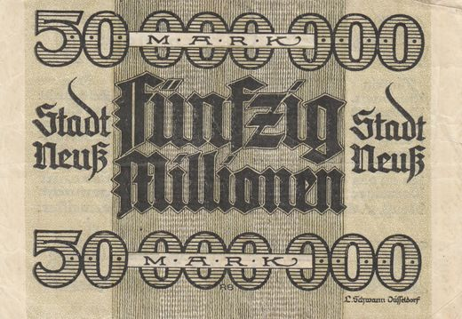 Notgeld  Neuss 50 000 000 mark 15. sept.1923 ( g )
