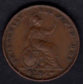 Great-Britain 1 farthing 1839 KM-725 ( VF )