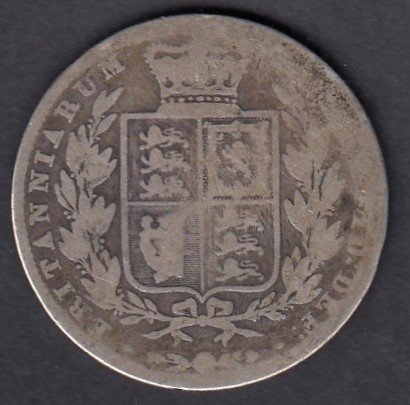 Great-Britain 1/2 crown 1845 KM-740 ( G/P ) Silver 14.14g / 925