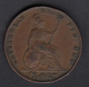 f Great-Britain 1 farthing 1841 KM-725 ( G )
