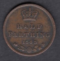 Great-Britain 1/2 farthing 1843 KM-738 ( VF )
