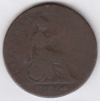 Great-Britain 1/2 penny 1826 KM-692 ( P )