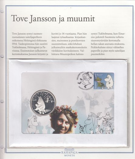 Silvermedal Tove Jansson and moomin First day cover (PROOF)