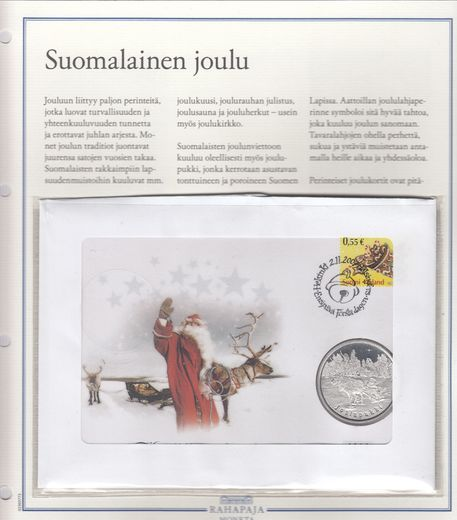 Silvermedal Finnish christmas - santa claus First day cover (PROOF)