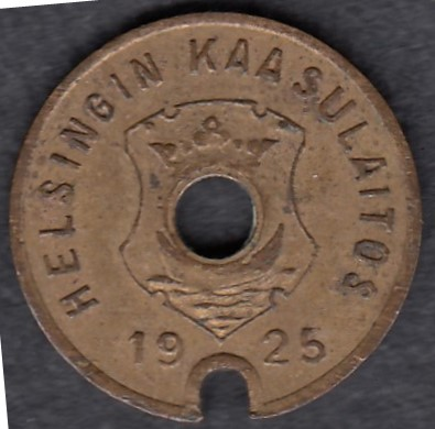 Gasworks token Helsinki 1925 Diameter 16mm