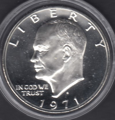 USA 1 Dollar 1971 Eisenhover KM-203a ( PROOF )