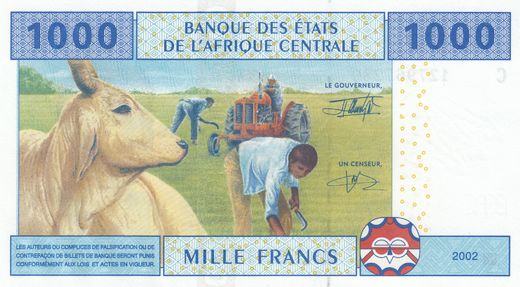 Central-African states - Chad 1000 Francs 2002 P-607C ( UNC )
