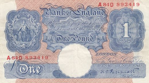 Great Britain 1 Pound ND(1940-48) P-367a ( VF )