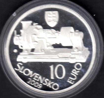 Slovakia 10 Euro 2009 KM-108 ( PROOF ) 150th Anniversary of Aurel Stodola