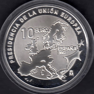 Spain 10 Euro 2002 KM-1048 ( PROOF ) Spanish Presidency of the European Union