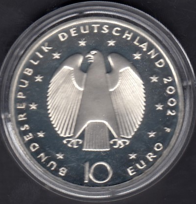 Germany 10 Euro 2002 F KM-215 ( PROOF ) Euro Currency
