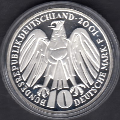 Germany 10 Euro 2001 F KM-206 ( PROOF ) Federal Constitutional Court