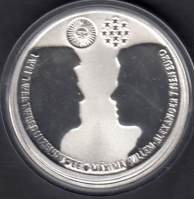 Hollanti / Netherlands 10 Euro 2002 KM-243 ( PROOF ) Royal Wedding