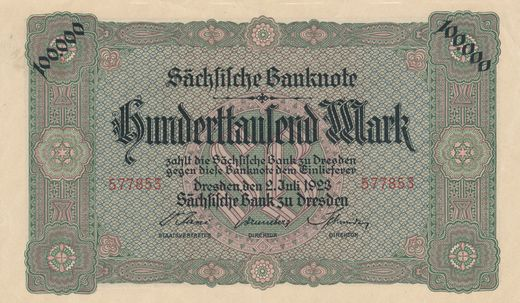 Germany Tresden 100 000 mark 1923  ( 01 )