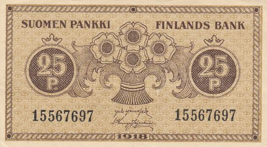 25 Penniä 1918 15567697 ( VF ) JÄR - His