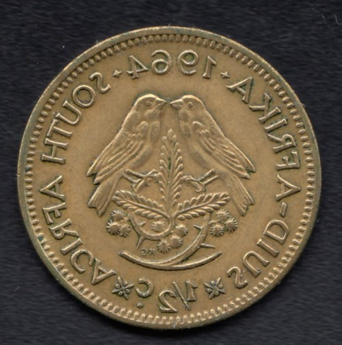 South-Africa ½ Cent 1964 KM-56 ( VF )